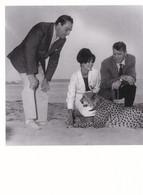 CLAUDIA CARDINALE - BURT LANCASTER - LUCHINO VISCONTI  - FESTIVAL DE CANNES 1963 - CARTE. - Acteurs