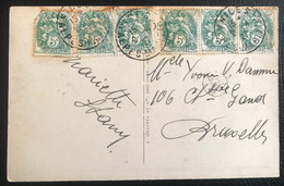 France 1927 De Nice Vers Bruxelles (1076) - Cartas