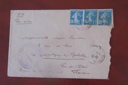 France Lettre Du  20   04 1926 FM Par Avion Pour Montigny En  Gombelle - Cartas