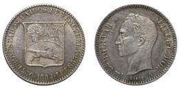 1/4 Bolivar 1894 (Venezuela) Silver - Venezuela