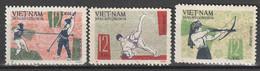 VIETNAM DU NORD - N°494/6 ** (1966) Sports - Vietnam