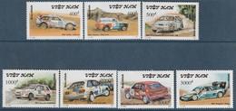 VIETNAM - N°1216/22 ** (1991) Voitures De Rallyes - Vietnam