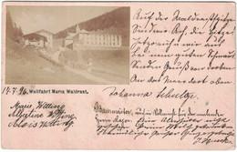 Autriche - Sud Tyrol - Wallfahrt Maria Waldrast - Carte Postale Avec Photo Collée - Pour Hambourg - 16 Juillet 1896 - Gebruikt