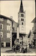 CPA Guillestre Hautes-Alpes, L'Eglise, Le Dauphine, Brunnen, Wäscherinnen, Kirche - Andere Gemeenten