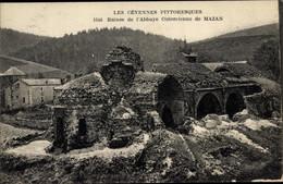 CPA Mazan Ardèche, Ruines De L'Abbaye, Ruinen - Otros Municipios