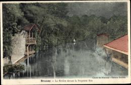 CPA Brunoy Essonne, La Riviere Devant La Propriete Ritt - Andere Gemeenten
