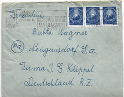 1949 RPR COVER ROMANIA TO GERMANY PROPAGANDA MACHINE CANCEL - BX93XCB88 - Cartas