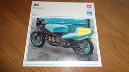 ADM 500 Grand Prix Suisse Switzerland Moto Fiche Descriptive Motocyclette Motos Motorcycle Motocyclette - Sin Clasificación