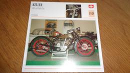 KELLER 400 Cm3 Kel-Cha Suisse Switzerland Moto Fiche Descriptive Motocyclette Motos Motorcycle Motocyclette - Sin Clasificación