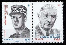 Bloc  Neuf **  2 Timbres Du Général De Gaulle - Mint/Hinged