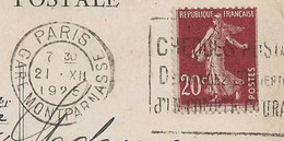 Semeuse N°139/IV De Roulette Sur Carte Du Bon Marché, état Voir Scan, 1925. - 1921-1960: Periodo Moderno