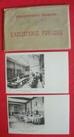 75 Paris 1900-10 Administration Générale De L'Assistance Publique Pochette 10 Cartes Postales édit Bergeret & Cie Nancy - Health, Hospitals