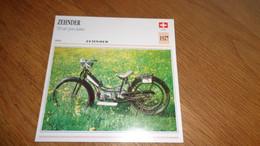 ZEHNDER 110 Cm3 Pour Dames 1927 Suisse Switzerland Moto Fiche Descriptive Motocyclette Motos Motorcycle Motocyclette - Sin Clasificación
