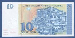 NORTH MACEDONIA - P.9 – 10 Denari 1993 UNC / Serie N. ЦЌ 151264 - Macedonia