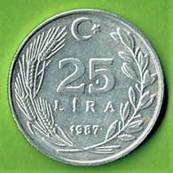 TURQUIE / 25 LIRA / 1987 / ALU - Turkey
