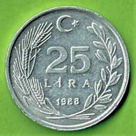 TURQUIE / 25 LIRA / 1988 / ALU - Turkey