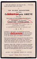 Doodsprentje Camille Ameye Izegem 1842 En Overleden Te Louise Marie 1903 Dobbelaere Leontine - Devotieprenten