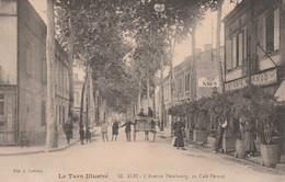 CPA  (81) ALBI N° 55 L' Avenue Dembourg Au Café PERNOD  2 Scans - Albi