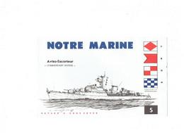 "BUVARD - ""Notre Marine"" - Aviso Escorteur ""Commandant RIVIERE"" - N°5 - Dessin Haffner - Transport"
