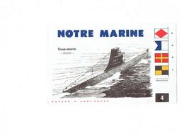"BUVARD - ""Notre Marine"" - N° 4 SOUS MARIN REQUIN - Dessin Haffner - Transport"