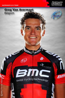 CARTE CYCLISME GREG AVERMAET TEAM BMC 2012 ( SERIE BUSTE ) - Cycling
