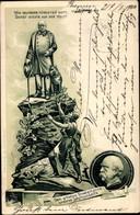 Lithographie Leipzig In Sachsen, Wir Deutsche Fürchten Gott, Sonst Nichts Auf Der Welt, Otto Von Bismarck - Other