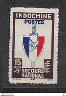 INDOCHINE Y&T N° 282 NEUF* TRACE DE CHARNIERE Lot IND 204 - Nuevos
