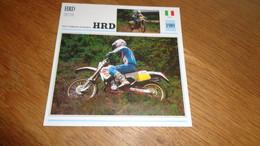 HRD 250 YH Enduro 1989 Italie Italia Moto Fiche Descriptive Motocyclette Motos Motorcycle Motocyclette - Sin Clasificación
