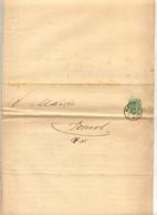 Lettre Cachet Metz 1886 Pour Mairie Dornot Assurance Maladie - Covers & Documents