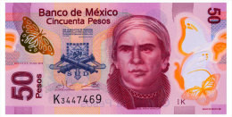 MEXICO SERIES K 50 PESOS 2013 Pick 123Ak Unc - Mexico