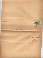 Lettre Cachet Metz 1884 Pour Mairie Dornot Frais Reception - Covers & Documents