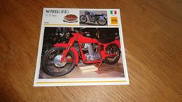 MONDIAL FB 175 TV Sport 1956 Italie Italia Moto Fiche Descriptive Motocyclette Motos Motorcycle Motocyclette - Sin Clasificación