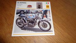 FB MONDIAL 250 Bicylindre  GP 1956 Italie Italia Moto Fiche Descriptive Motocyclette Motos Motorcycle Motocyclette - Sin Clasificación