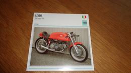 LINTO 500 Grand Prix GP Italie Italia Moto Fiche Descriptive Motocyclette Motos Motorcycle Motocyclette - Sin Clasificación