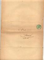 Lettre Cachet Metz 1883 Pour Mairie Dornot Demande De Secours - Covers & Documents