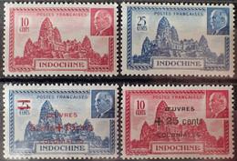 R2269/523 - 1941/1944 - COLONIES FR. - INDOCHINE - SERIE COMPLETE - N°122 à 123 + N°294 à 295 NEUFS** - Nuevos