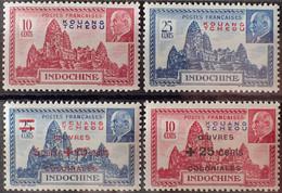 R2269/525 - 1941/1944 - COLONIES FR. - KOUANG-TCHEOU - SERIE COMPLETE - N°138 à 139 + N°156 à 157 NEUFS** - Ungebraucht