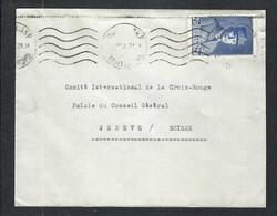 FRANCE 1941:  LSC De Montauban Pour La Croix-Rouge à Genève Affr. De 2,50F Avec Le Y&T 473 - Kriegsausgaben