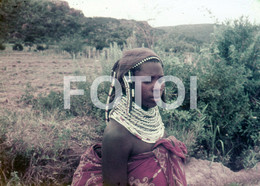 ANGOLA ETHNIC TRIBE NUDE NUE NACKT YOUNG GIRL WOMAN FEMME AFRICA AFRIQUE 35mm DIAPOSITIVE SLIDE NO PHOTO FOTO NB497 - Dias