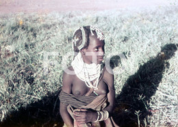 ANGOLA ETHNIC TRIBE NUDE NUE NACKT YOUNG GIRL WOMAN FEMME AFRICA AFRIQUE 35mm DIAPOSITIVE SLIDE NO PHOTO FOTO NB499 - Dias