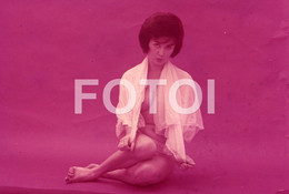 OLD 35mm PHOTO SLIDE DIAPOSITIVE SEXY EROTIC MODEL FEMME NU NUE NUDE ITALIAN PIN UP NAKED WOMAN MODEL NACKTE FRAU NP508 - Dias
