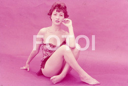 OLD 35mm PHOTO SLIDE DIAPOSITIVE SEXY EROTIC MODEL FEMME NU NUE NUDE ITALIAN PIN UP NAKED WOMAN MODEL NACKTE FRAU NP509 - Dias