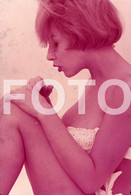 OLD 35mm PHOTO SLIDE DIAPOSITIVE SEXY EROTIC MODEL FEMME NU NUE NUDE ITALIAN PIN UP NAKED WOMAN MODEL NACKTE FRAU NP511 - Dias