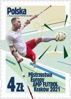 Poland 2021 / AMP FUTBOL European Championships Kraków 2021, Football, Sport, Krystian Kaplon MNH** New!! - Nuevos