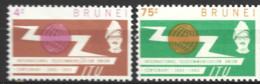 Brunei    1963  SG  132-3  I T U Mounted Mint - Brunei (...-1984)