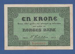 NORWAY - P.13a(1) – 1 Krone VF+ Serie B.5035521 - Norway