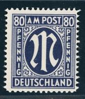 All. Besetzung Bizone AMPost Michel Nr. 34aD Postfrisch Geprüft - Zona Anglo-Américan