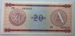 Billete Cuba. 1985. 20 Pesos. Serie A. Certificado De Divisa. Banco Nacional De Cuba. MBC. Castillo De La Real Fuerza - Cuba