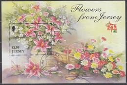 JERSEY  Block 20, Gestempelt, Herbstblumen, 1998 - Jersey