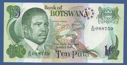 BOTSWANA - P.9d –  10 PULA ND (1982) VF/XF Serie D/30 088759 - Botswana